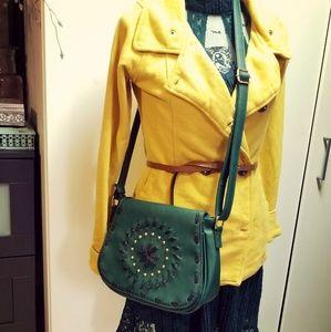 Handbags - 🎁🎁🎀🎄NWOT green faux leather mini crossbody bag